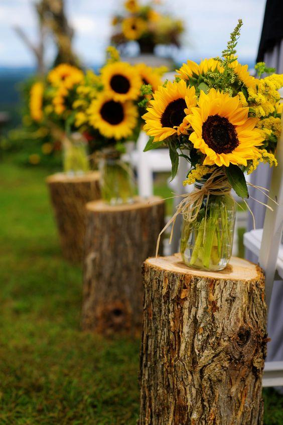Wedding Aisle Decoration Ideas Rustic Wedding Inspiration